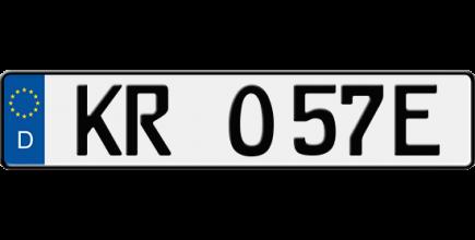 Foto: E-Kennzeichen für Elektrofahrzeuge