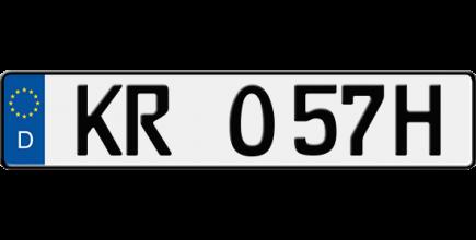 Foto: H-Kennzeichen / Historisches Kennzeichen / Oldtimer-Kennzeichen