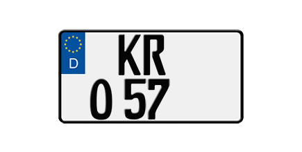 Foto: Eurokennzeichen für Leichtkrafträder