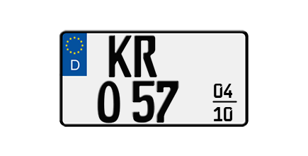 Foto: Saisonkennzeichen für Leichtkrafträder