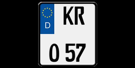 Foto: Motorradkennzeichen / Motorrad-Nummernschild