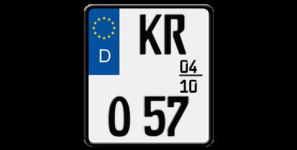 Foto: Saisonkennzeichen für Motorräder