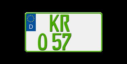 Eurokennzeichen für Traktoren